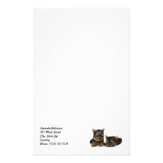 Efectos de escritorio de los perritos de Yorkshire Papeleria De Diseño