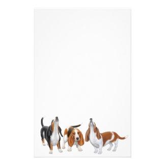 Efectos de escritorio de los perros de afloramient papelería de diseño