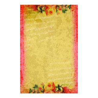 Efectos de escritorio de los rosas de la colección papelería de diseño