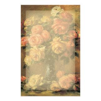 Efectos de escritorio de los rosas de Renoir Papeleria De Diseño