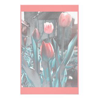 Efectos de escritorio de los tulipanes personalized stationery