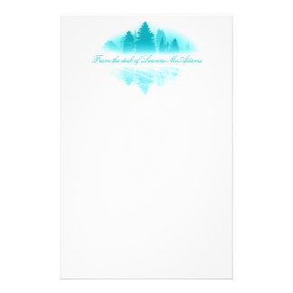 Efectos de escritorio de niebla del lago papelería de diseño