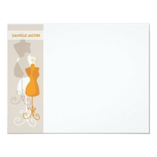 """Efectos de escritorio de Notecard del fashionista Invitación 4.25"""" X 5.5"""""""