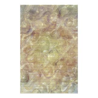 Efectos de escritorio de oro de los remolinos - lí papelería personalizada