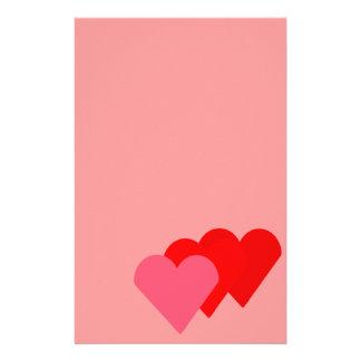 Efectos de escritorio de tres corazones papeleria personalizada