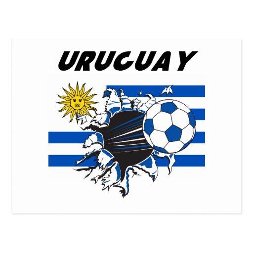 Efectos de escritorio de Uruguay Futbol Tarjeta Postal