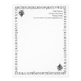 Efectos de escritorio del alfabeto - ganador del T Plantilla De Membrete