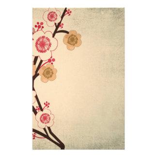 Efectos de escritorio del árbol de la flor de cere papeleria de diseño