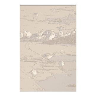 Efectos de escritorio del arte de los gaiteros de  papeleria de diseño
