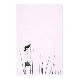 Efectos de escritorio del arte del pájaro de los papelería personalizada