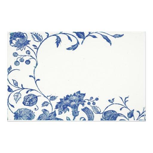 Efectos de escritorio del azul de Delft Papeleria