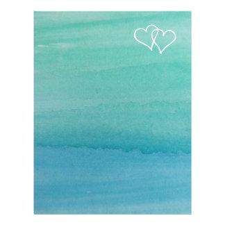 Efectos de escritorio del boda de playa del color plantilla de membrete