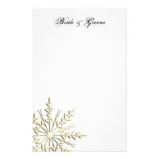 Efectos de escritorio del boda del invierno del co papelería