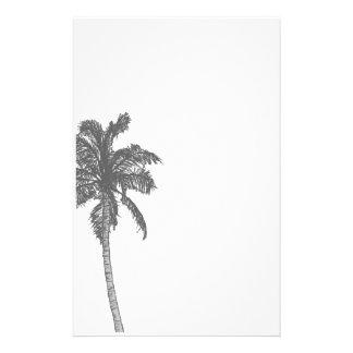 Efectos de escritorio del bosquejo de la palmera papelería