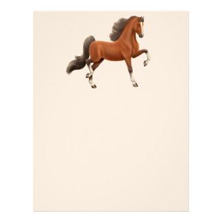 Efectos de escritorio del caballo de Saddlebred Plantilla De Membrete