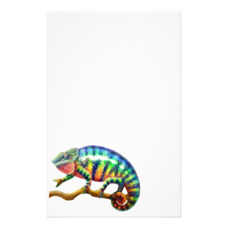 Efectos de escritorio del camaleón de la pantera papeleria de diseño