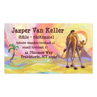 Efectos de escritorio del camello tarjetas de visita