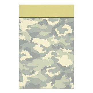 Efectos de escritorio del camuflaje del ejército papelería personalizada