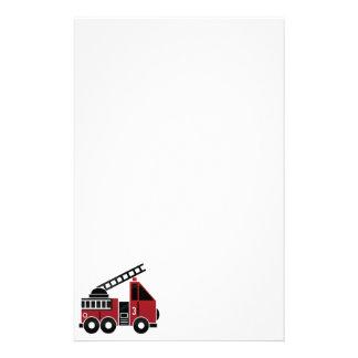 Efectos de escritorio del coche de bomberos personalized stationery