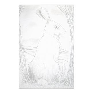 Efectos de escritorio del conejo papeleria de diseño