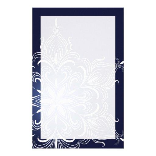 Efectos de escritorio del copo de nieve del invier papeleria de diseño