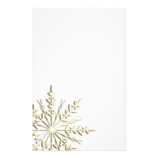Efectos de escritorio del copo de nieve del oro papeleria de diseño