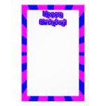 Efectos de escritorio del cumpleaños - retros papeleria personalizada
