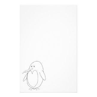 Efectos de escritorio del esquema del pingüino personalized stationery