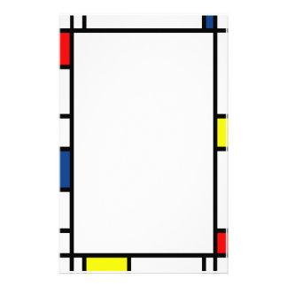 Efectos de escritorio del estilo de Mondrian Papeleria De Diseño