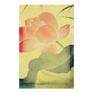 Efectos de escritorio del flor de Lotus Papeleria