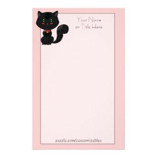 Efectos de escritorio del gato negro papeleria