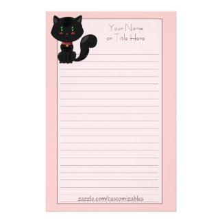 Efectos de escritorio del gato negro papelería