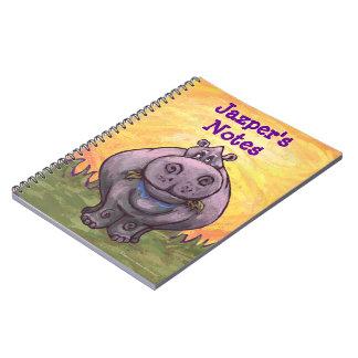 Efectos de escritorio del Hippopotamus Libros De Apuntes