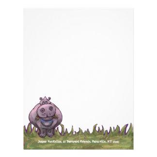 Efectos de escritorio del Hippopotamus Membrete