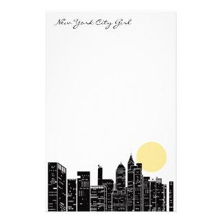 Efectos de escritorio del horizonte de Nueva York Personalized Stationery