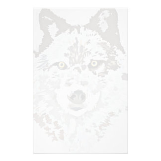 Efectos de escritorio del lobo gris papelería de diseño