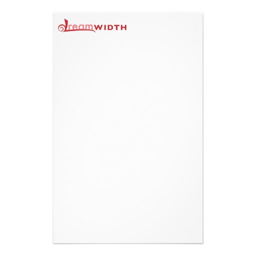 Efectos de escritorio del logotipo de Dreamwith Personalized Stationery