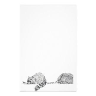 Efectos de escritorio del mapache  papeleria
