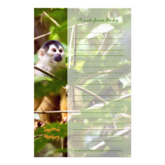 Efectos de escritorio del mono de ardilla papeleria de diseño