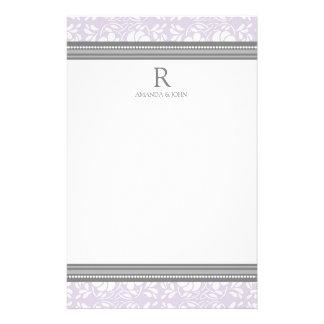 Efectos de escritorio del monograma del boda del b papelería de diseño