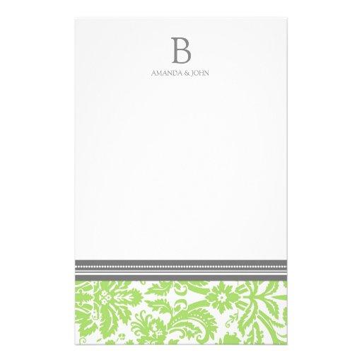 Efectos de escritorio del monograma del boda del d papeleria de diseño