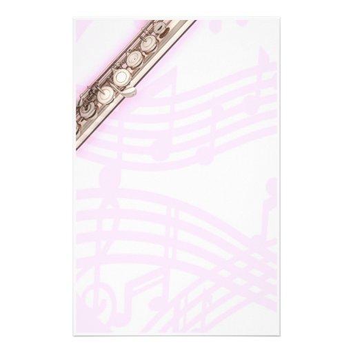 Efectos de escritorio del músico de la flauta o de papeleria de diseño