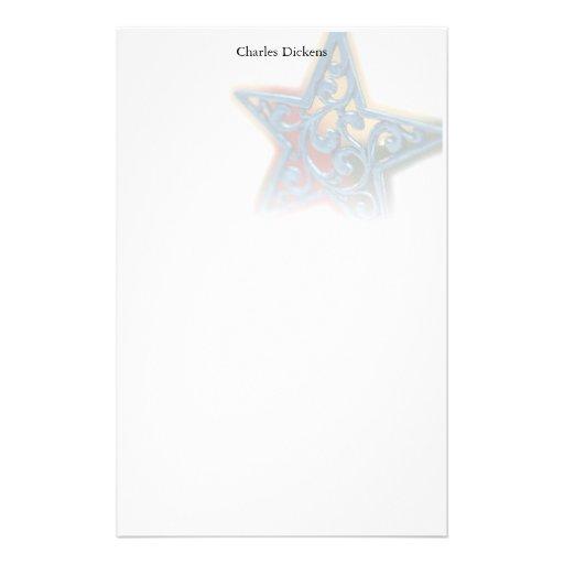 Efectos de escritorio del navidad de la estrella papeleria