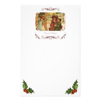 Efectos de escritorio del navidad de los niños del papelería