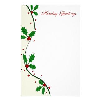 Efectos de escritorio del navidad del acebo papeleria de diseño