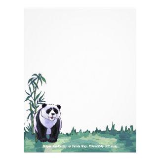 Efectos de escritorio del oso de panda plantillas de membrete