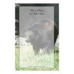 Efectos de escritorio del oso negro papeleria personalizada