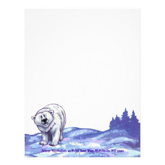 Efectos de escritorio del oso polar membrete