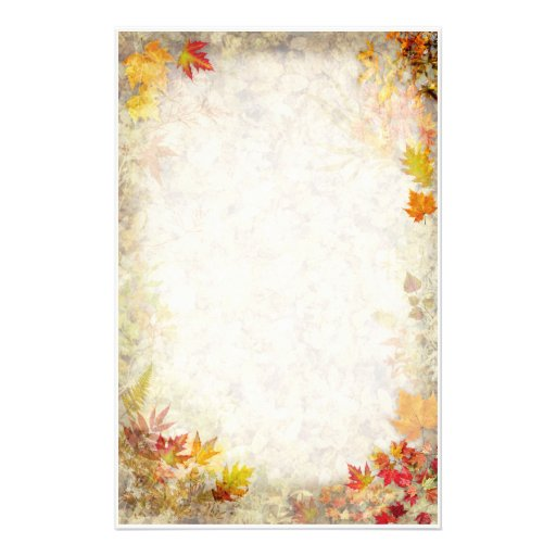 Efectos de escritorio del otoño papelería