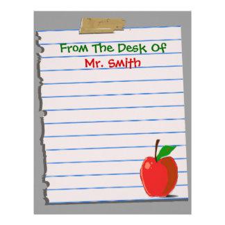 Efectos de escritorio del papel con membrete del p plantilla de membrete